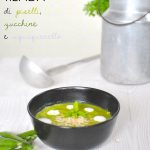 Crema tiepida di piselli, zucchine e squaquerello