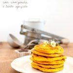 Pancake alla zucca, di Jamie (con composta e lardo)