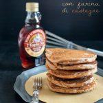 Pancake con farina di castagne ed i lieviti