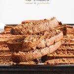 Bis-cotti al farro, cacao e pistacchi