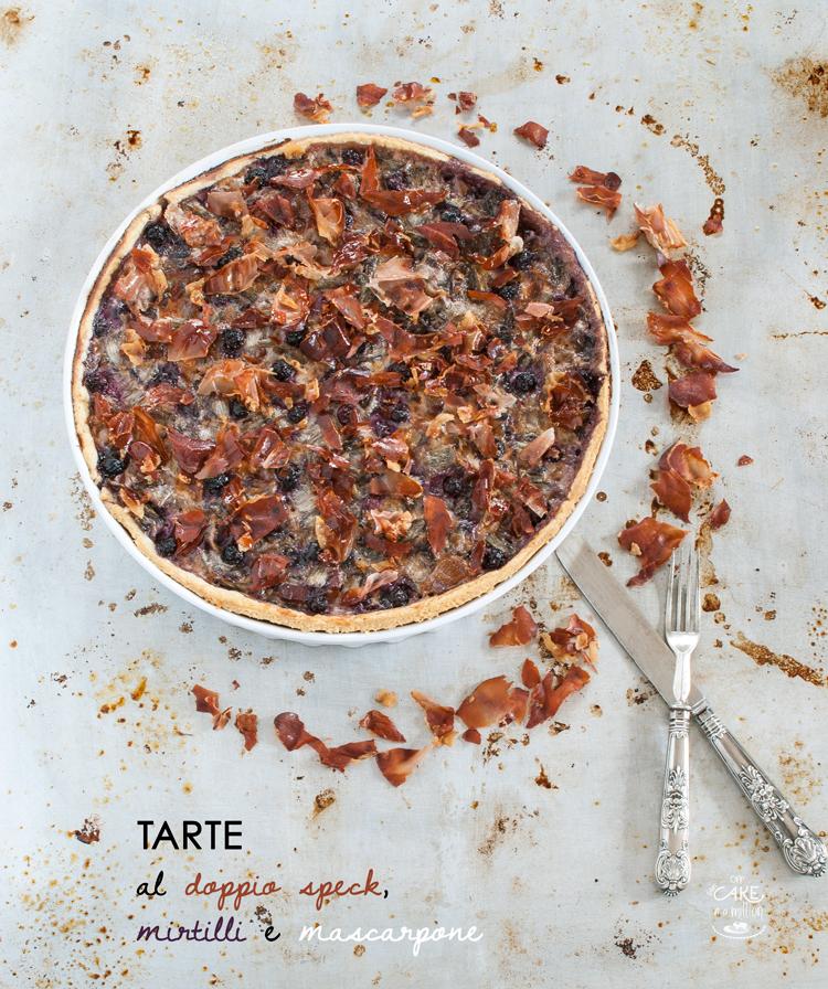 brisee, speck, mirtilli, porri, roux, mascarpone, tart, tarte