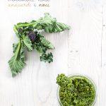 Pesto di broccoletti viola, anacardi e noci