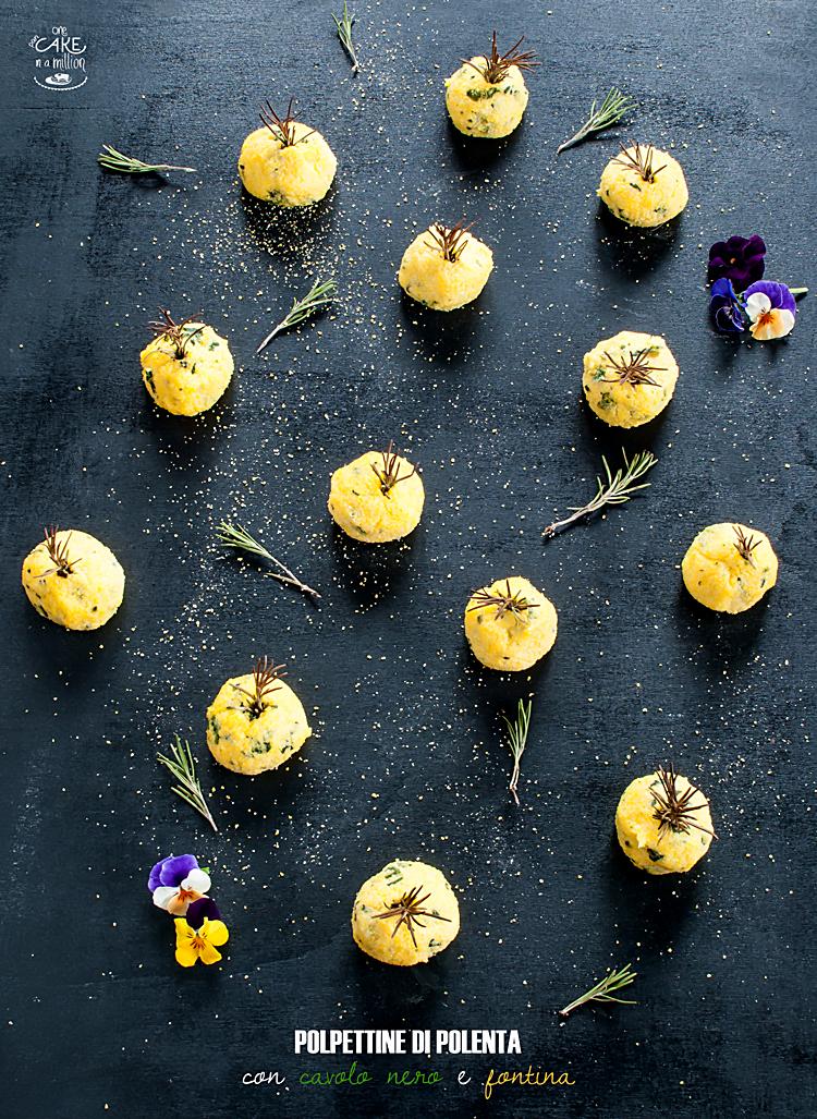 polpette, polenta, cavolo nero, rosmarino, fontina
