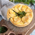 Pie alla farina di mais con biete arcobaleno e papavero
