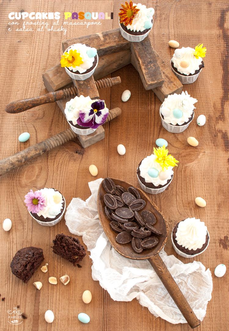 cupcake, Pasqua, frosting, mascarpone, cioccolato, banane, whisky, mou, Lomelino, Call me cupcake, contest