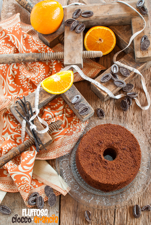 fluffosa, arancia, cioccolato, vaniglia, bloggalline, albumi, angel cake