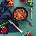 Tarte tatin glutenfree (alleggerita) ai pomodorini confit