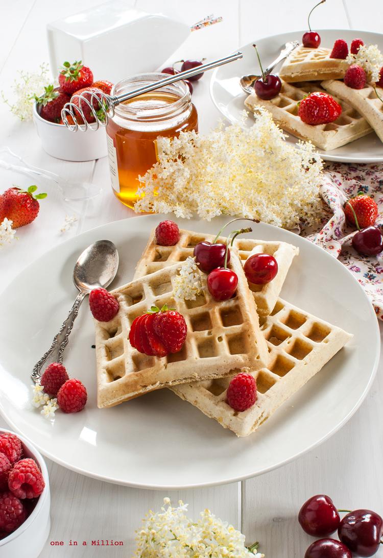 waffle, latticello, miele, frutti rossi, integrali, leggeri