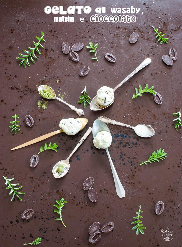 gelato, wasaby, matcha, cioccolato, 70%, valrhona, easy, senza gelatiera, latte condensato, panna