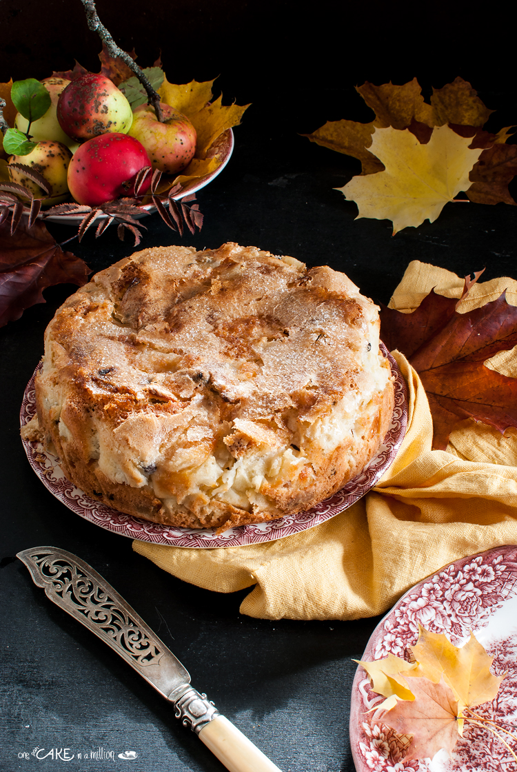 torta mele, ubriaca, rum, uvetta, Corinto, senza burro, easy, autunno,torta morbida, video ricetta