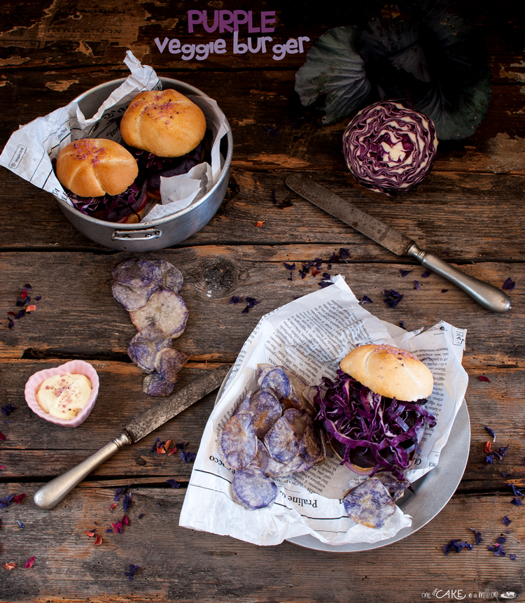 Purple veggie burger